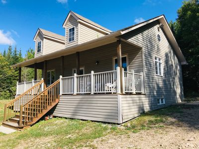 Photo for Family Cottage - Back to Nature - 100 acres - Trails - Off the grid - 3 bedroom