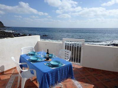 Photo for Beach house only 2 m from the sea in the Anaga Mountains, free WIFI