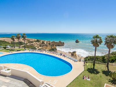 Photo for Nice apartment with a sea view from the terrace - communal pool 100m away