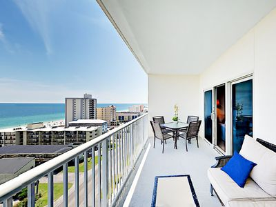 Photo for 2BR Crystal Tower 1105 w/ Pool, Lazy River, & Gulf Views, Walk to Beach