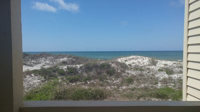 view from the living room deck