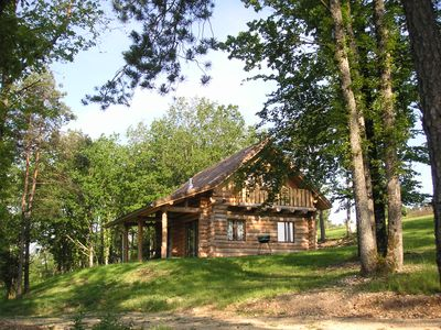 Photo for log cabin in champagne with SWIMMING POOL (in summer) and SAUNA
