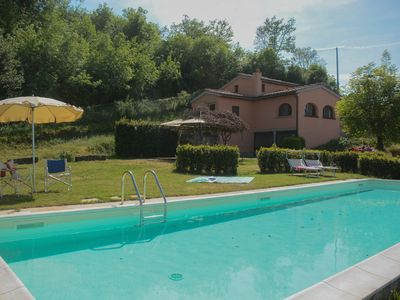 Photo for Poggio degli Ulivi, amazing farmhouse on Chianti  hills with private pool