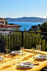 You can eat on the terrace and enjoy a magnificent view