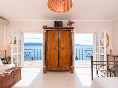 Photo for Beachfront Villa Aestas with stunning view / 5 Bedrooms, 6 Bathrooms, 12+2 pax