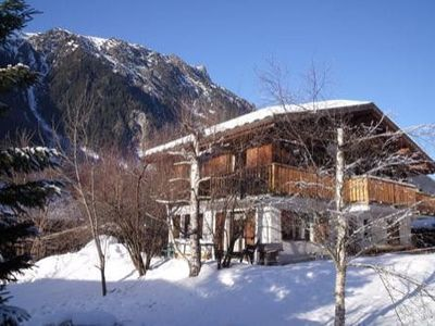 Photo for CHALET WITH GARDEN AND SPLENDID VIEW CHAINE MONT BLANC CHAMONIX BOSSONS. WIRELESS
