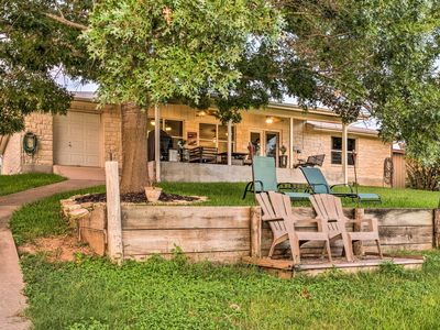 Photo for Waterfront LBJ Home w/ Fire Pit+Kayaks+Lake Access