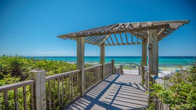 Photo for LOCATION! 100ft from PRIVATE beach access, BEAUTIFUL ~ Gulf View and Pool