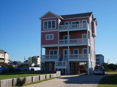 Photo for Oceanview steps to Beach at Rodanthe Pier. Elevator, Pool & Hot Tub, With Linen