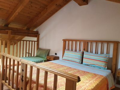 "Photo for Charming Apartment ""Appartamento Adamello 9"" with Mountain View & Wi-Fi; Parking Available, Pets Allowed"