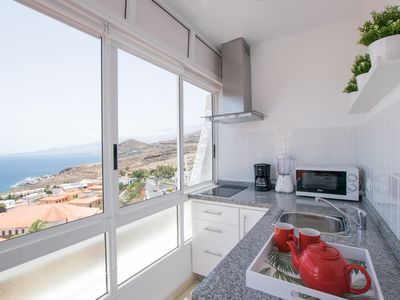 Photo for Elegant Apartment 15 min to Beach + Sea View &Wifi - Apartment for 2 people in El Rosario