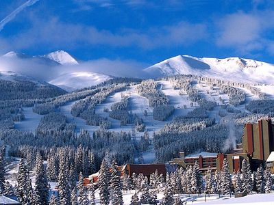 Photo for HUGE Premium Ski-in Suite with Fireplace & Balcony   Access 9 Hot Tubs