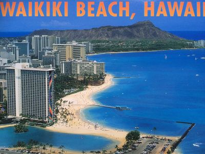 enjoy the beach, pool or hot tubs after walking up Diamond Head Crater in  back