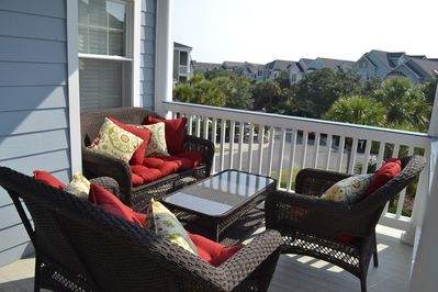Plenty of Seating on Two Level Sun Porch