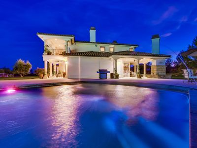Photo for Gorgeous mansion with SALTWATER pool and tennis court!