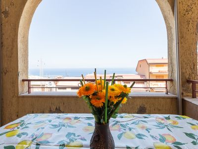 Photo for Holiday home with sea view in Letojanni, a few km from Taormina