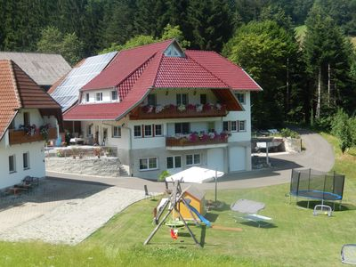 Photo for Holidays on the Oberhubhof, overlooking the valley and the playground.