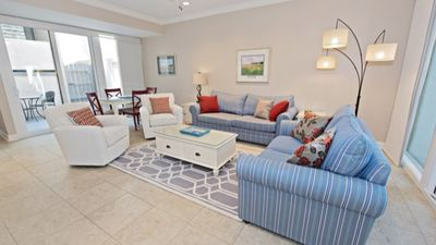 Comfortable seating in a light, bright setting