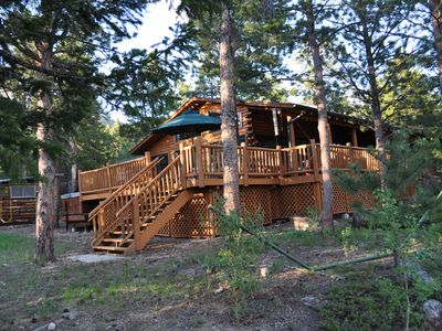 Photo for A 5 Star 3 BR Luxury Log Cabin Overlooking RMNP only 20 minutes from Estes Park