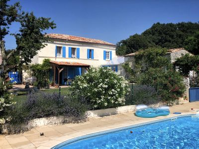 Photo for Detached Charentais Stone Built House With Private Pool