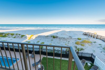 This is what you came for!  View from your balcony! Direct south end unit!