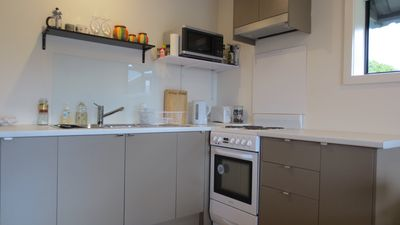 Full kitchen with plenty of space to snack or cook