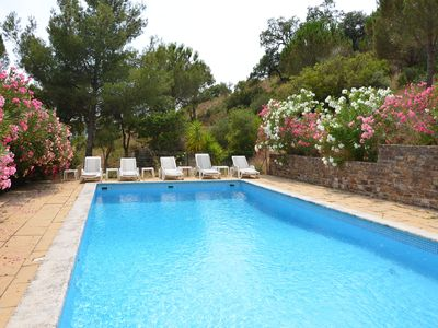 Photo for House with large pool in private property of 17 hectares, 1km from the village