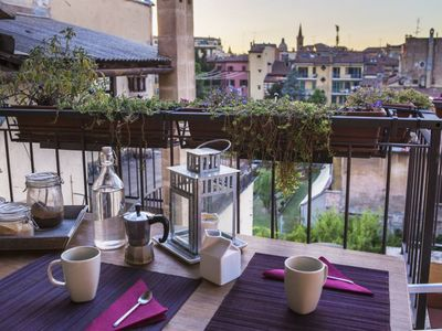 Photo for Attic with balcony - Bologna historical city center