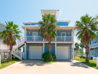Photo for 4BR Home w/ Ocean Views, 2 Pools & Private Elevator -- Walk to Beach