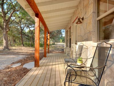Front porch of cabin- looking right to left