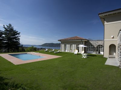 Photo for Beautiful villa with pool overlooking Lake Maggiore