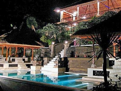 Majestic Villa at night