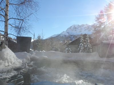 Photo for SKI CHALET FOOT MOUNTAIN AND OUTDOOR JACUZZI
