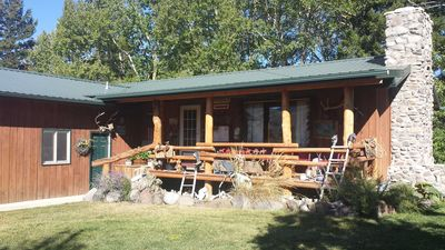 Photo for Beautiful Mountain Views with Trout Creek Frontage!  Ten Miles from Yellowstone!