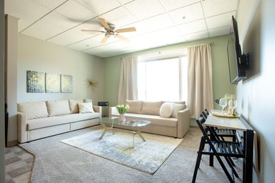 Warm and welcoming living room in the heart of downtown!