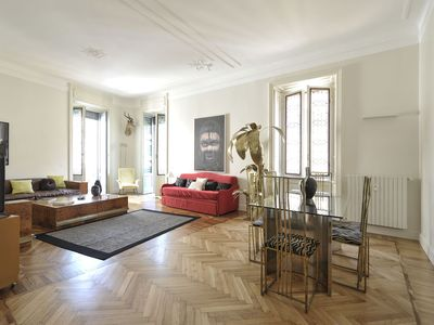Photo for Prestigious apartment 140 sq.mt. in the heart of Milan