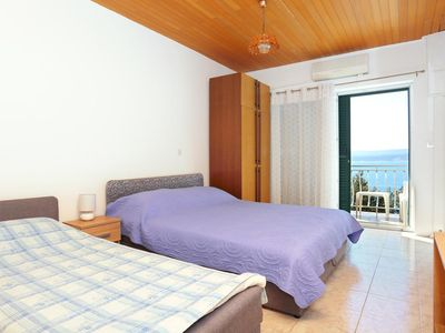 Photo for Studio flat with balcony and sea view Lokva Rogoznica, Omiš (AS-18211-d)