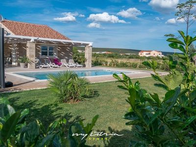 Photo for Seafront villa with private pool near Zadar