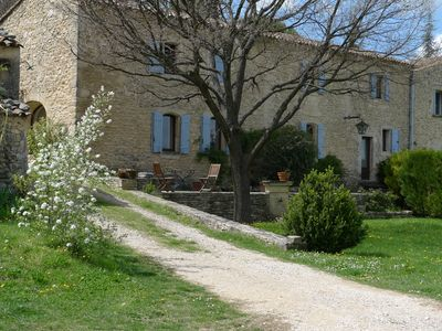 Photo for AUTHENTIC STONE MAS IN THE HEART OF LUBERON, Pool, View, Barbecue