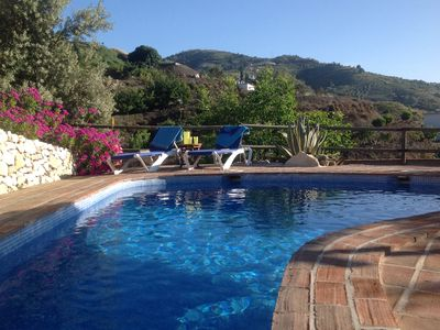 Photo for A lovely  rustic villa with private pool and superb views