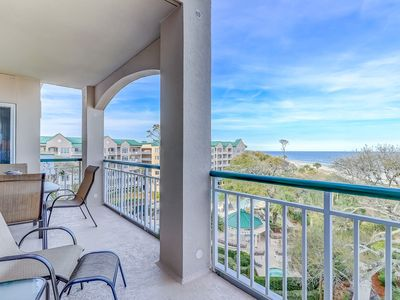 Photo for Stunning oceanfront condo with shared pool & hot tub and breathtaking views!