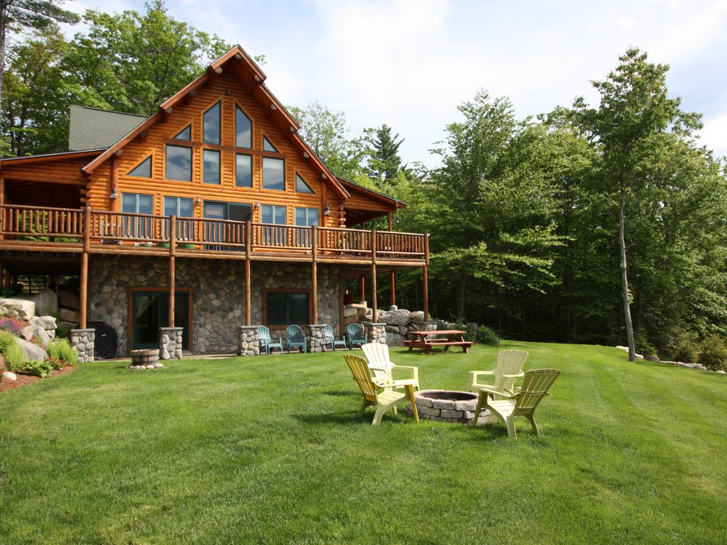 Luxury log cabin best views of mt washington chocorua for New hampshire log cabins