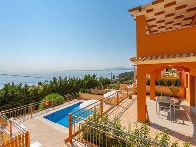 Photo for Villa Eros: Private Pool, Walk to Beach, Sea Views, A/C, WiFi, Car Not Required, Eco-Friendly
