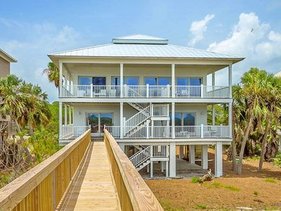 "Photo for Ready To Rent Now! FREE BEACH GEAR! Beachfront, Pet Friendly, Pool, Private Boardwalk, 3BR/3BA ""Endless Summer"""