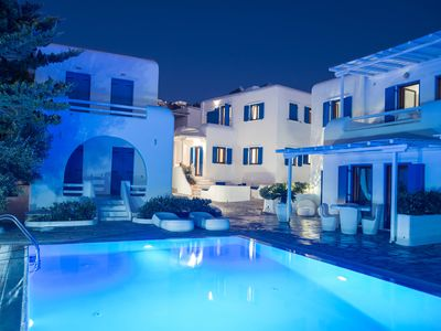 Photo for Situated in the heart of Mykonos Town, inside Oasis complex with a shared Pool!