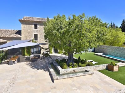 Photo for Luxury House in Gordes, for 12 people with heated pool and secure