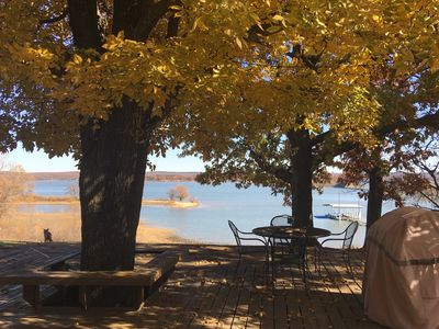 Photo for BOOK YOUR FALL GETAWAY 🍁🍂 WALK TO THE LAKE OR RELAX AND ENJOY THE VIEW!