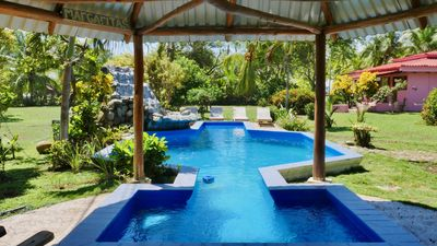 Photo for Oceanfront Beach House +Pool +AC +Private Beach Access in Costa Rica