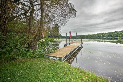A cozy lakefront lifestyle will be yours at this vacation rental cabin!