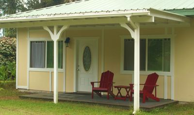 Private Cottage enchanting location nestled within a circle of Ohia trees.